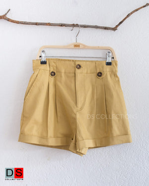 Button Front Shorts