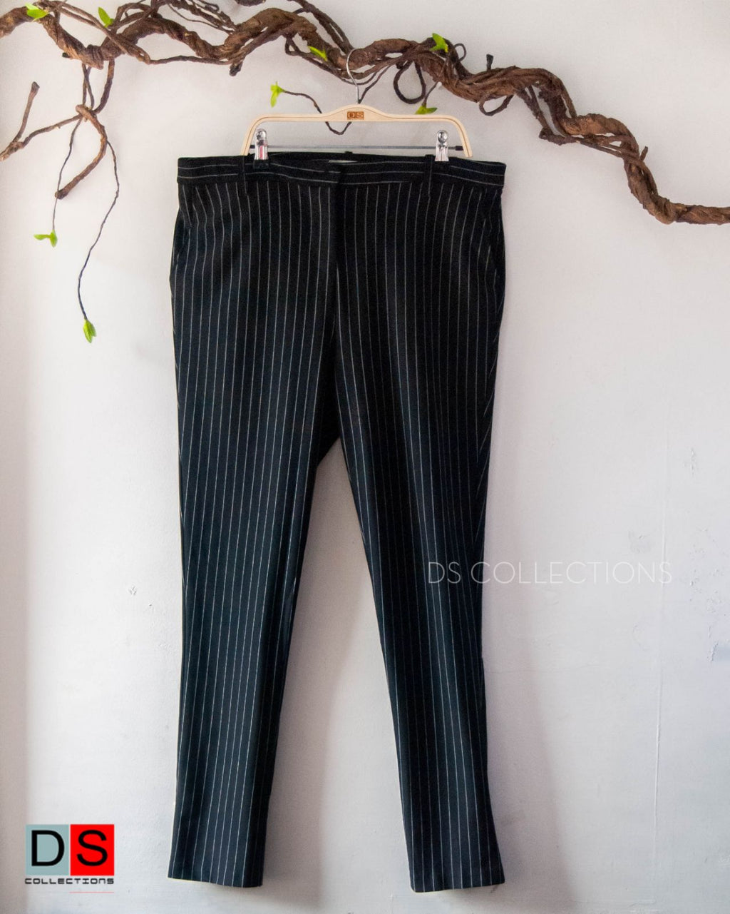 Plus Size Stripe Formal Pants