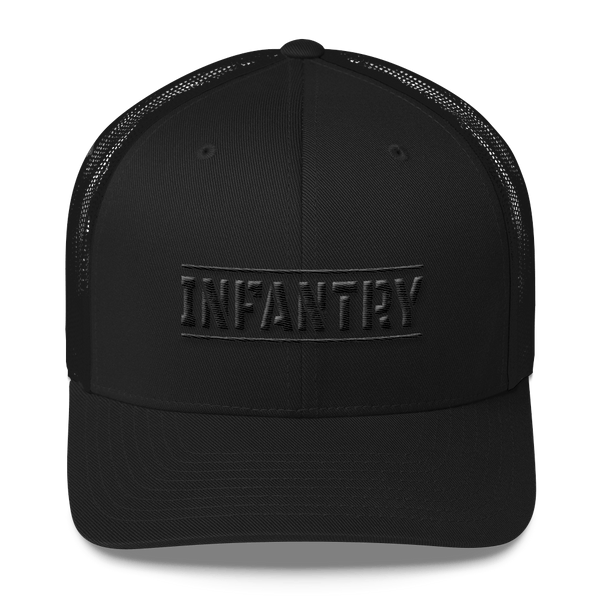 Trucker Hat | Blacked out Infantry