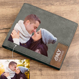 Full Color Photo Bifold Wallet - Grey