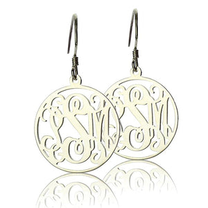 Circle Monogram Earring