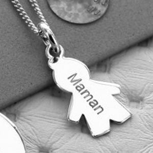 Contour Kid Charm Necklace
