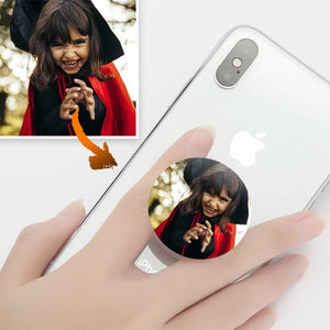 Personalized Photo Phone Grip - White