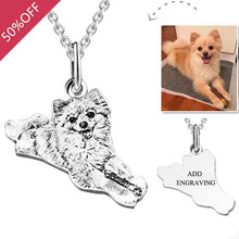 Pet Personalized Photo Tag Necklace