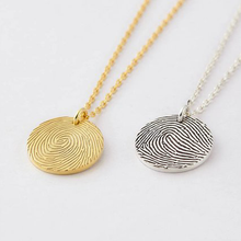 Fingerprint Disc Necklace