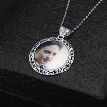 Full Color Circle Photo Necklace
