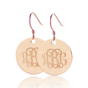 Disc Signet Monogrammed Earrings