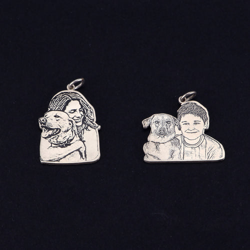 Photo Engraving Tag Necklace