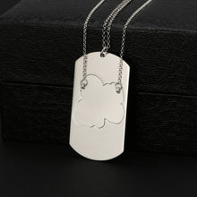 Engraving Photo Necklace Set