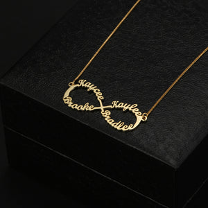 Infinity Necklace 4 Names