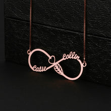 Cupid's Arrow Infinity Necklace