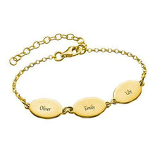 Mom Bracelet with  Kids Names Oval Design
