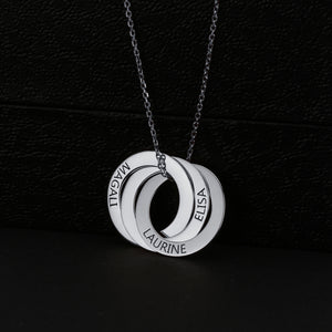 Russian Ring Necklace with Engraving