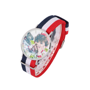 Nylon Band Full Color Photo Watch