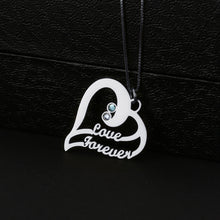 Two In One Heart Shape With Birthstone Necklace