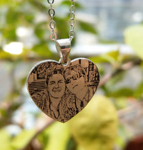 Customize Photo Lovely heart Necklace