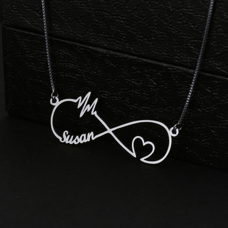 Heart Beats Infinity Necklace