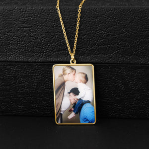 Full Color Rectangle Photo Necklace