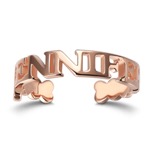 Uppercase Name Ring