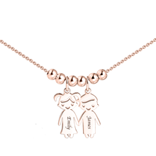 Necklace with 3 Children Charms