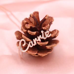 3D Cursive Name Necklace