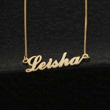 """Carrie"" Name Necklace Copper"