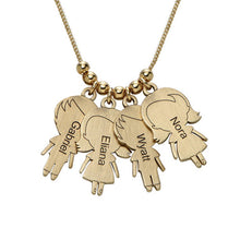 Necklace with lovely Children 4 Charms