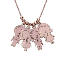 Sterling Silver Necklace with lovely Children 4 Charms