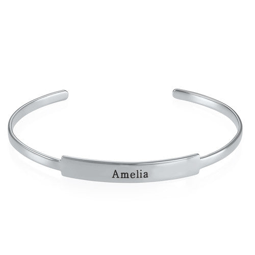 Open Name Bangle Bracelet