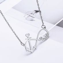 Anchor Infinity Name Necklace