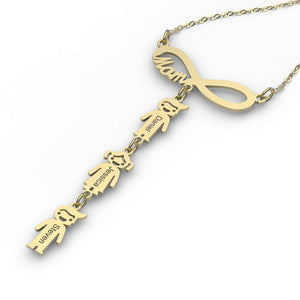 Vertical Infinity Children Charms Necklace