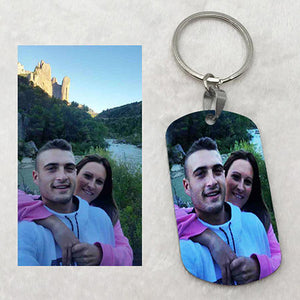 Custom Colorful Photo Keychain By Print