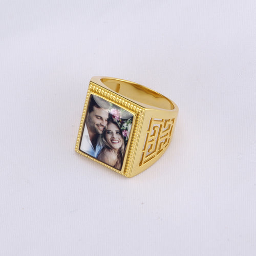 Full Color Rectangle Photo Ring
