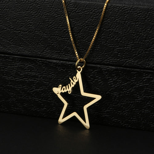 Pantagram Name Necklace