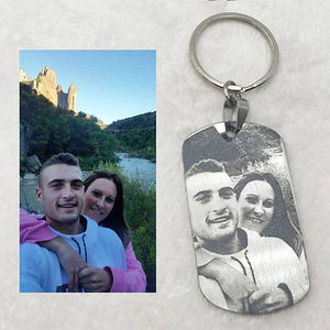 Custom Photo Keychain By Laser