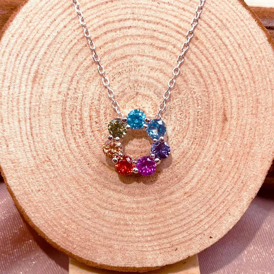 7 Color Crystal Necklace
