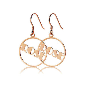 Circle Name Earring