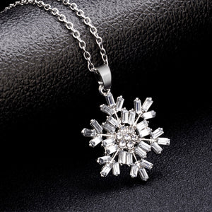 Christmas Snowflake Design Necklace