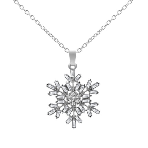 Snowflake Design Necklace