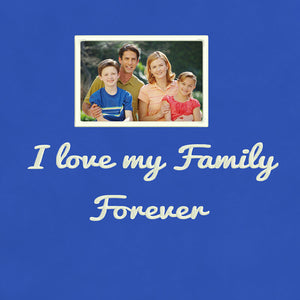 Personalized Photo Embroidery Hoodie - Blue
