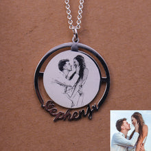 Classic Name Photo Necklace