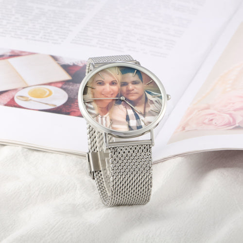 Alloy Bracelet Full Color Photo Watch