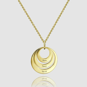 Three Disc Necklace