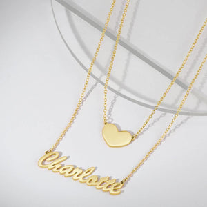 Heart Personalized Name Necklace