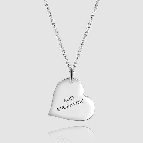 In The Heart Personalized Engravable Necklace