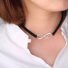 Black Leather Infinity Name Choker