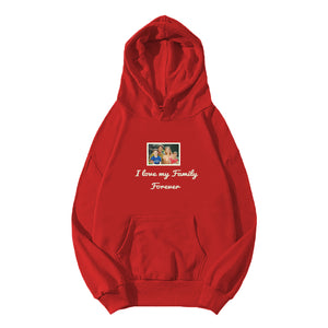 Personalized Photo Embroidery Hoodie - Red
