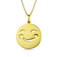 Cute Emoji Face Disc Necklace