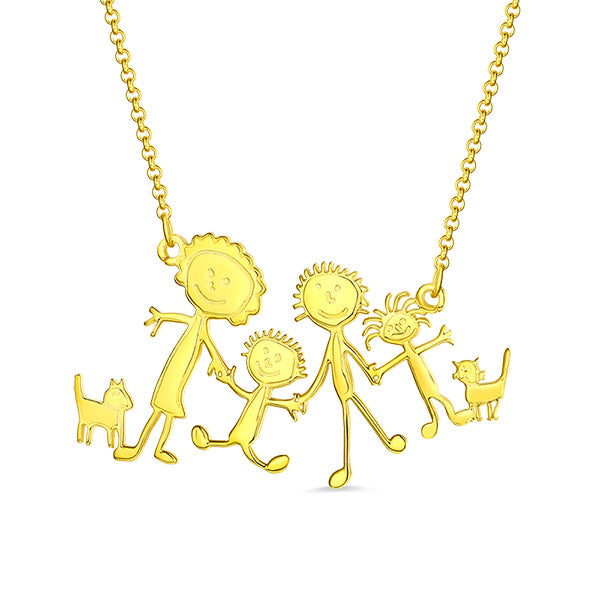 Children Drawing Necklace