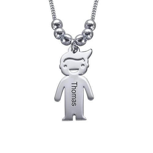 Sterling Silver Necklace with Child 1 Charm